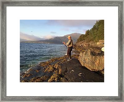 Fishing In Scandinavia Framed Print by Tamara Sushko