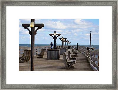 Fishing Pier 7 Framed Print by Lanjee Chee