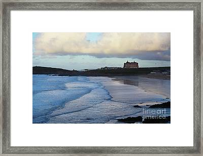 Framed Print featuring the photograph Fistral Beach by Nicholas Burningham