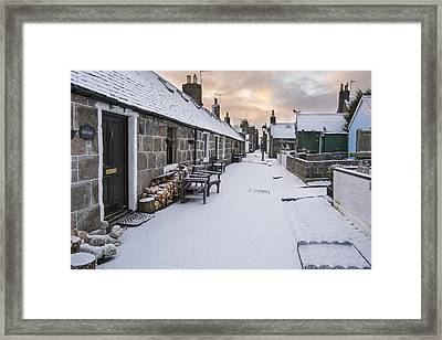 Fittie In The Snow Framed Print