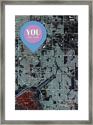 Fitzsimons Colorado 1965 Old Map You Are Here Framed Print