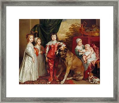 Five Eldest Children Of Charles I Framed Print by Anthony van Dyck