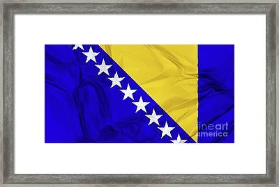 Flag Of Bosnia Framed Print