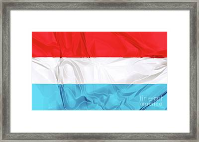 Flag Of Luxembourg Framed Print