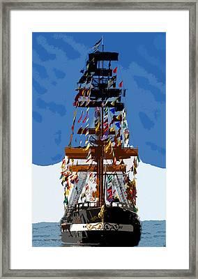 Flags Of Gasparilla Framed Print by David Lee Thompson