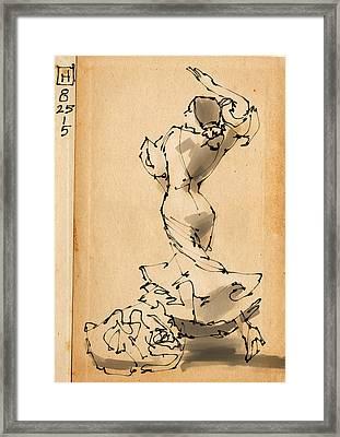 Flamenco Framed Print by H James Hoff