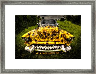 Flames One Framed Print by Jerry Golab
