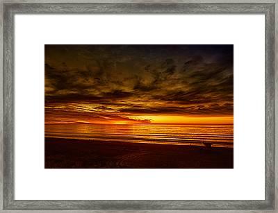 Flaming Sunset Framed Print by Joseph Hollingsworth