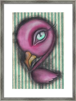 Flamingo Framed Print by Abril Andrade Griffith