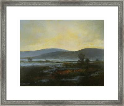 Framed Print featuring the painting Flash Flood Sold by Cap Pannell