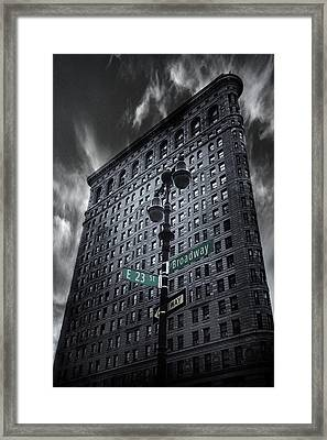 Framed Print featuring the photograph Flatiron Noir by Jessica Jenney