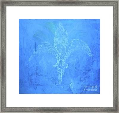 Fleur De Lis Saphire Framed Print
