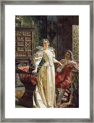Flirtation Framed Print by Joseph Frederic Charles Soulacroix