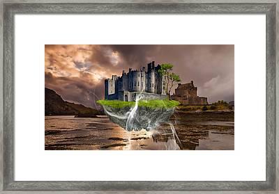 Floating Castle Framed Print