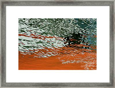 Framed Print featuring the photograph Floating On Blue 43 by Wendy Wilton