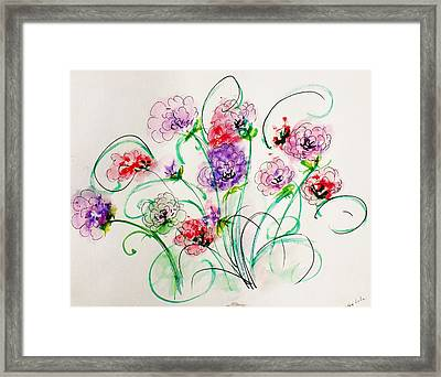 Floral Bunch Framed Print by Trilby Cole