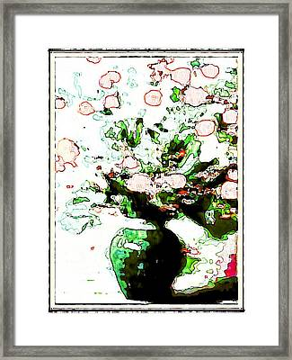 Floral Design Framed Print by HollyWood Creation By linda zanini