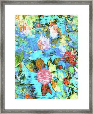 Floral Digital Pattern Framed Print by Tom Gowanlock