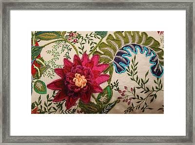 Floral Mandala Tapestry - Detail Framed Print