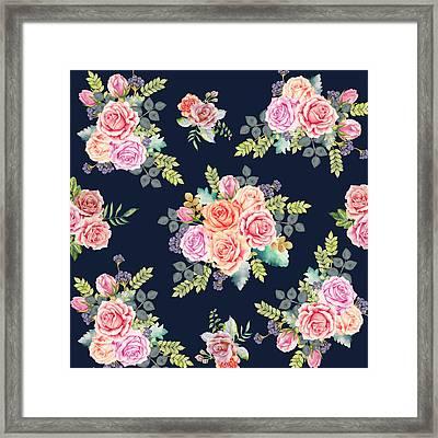 Floral Pattern 1 Framed Print