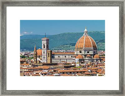Florence View From Piazzale Michelangelo Framed Print by Melanie Viola