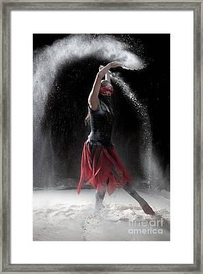 Flour Dancing Series Framed Print