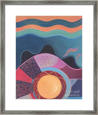 Flow Framed Print by Helena Tiainen