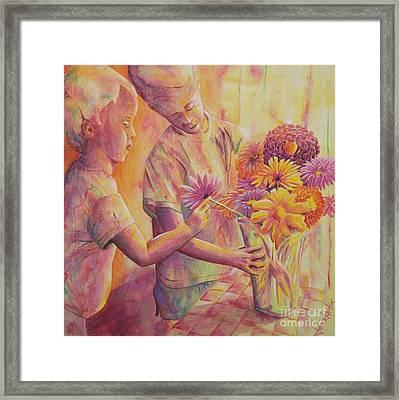 Flower Arranging Framed Print