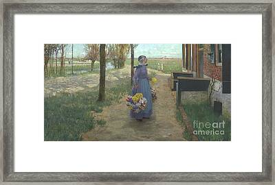 Flower Girl In Holland Framed Print