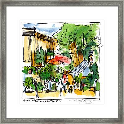 Flower Market Paris Framed Print