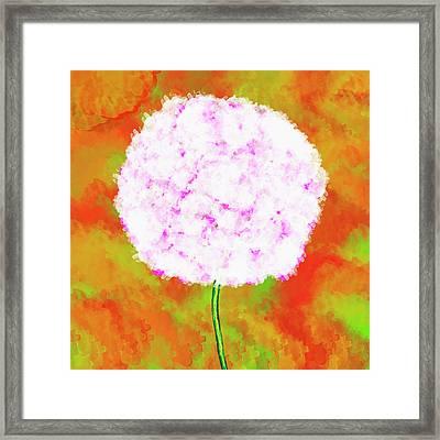 Flower On Color Framed Print
