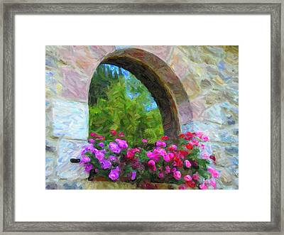Framed Print featuring the pyrography Flowers by Artistic Panda