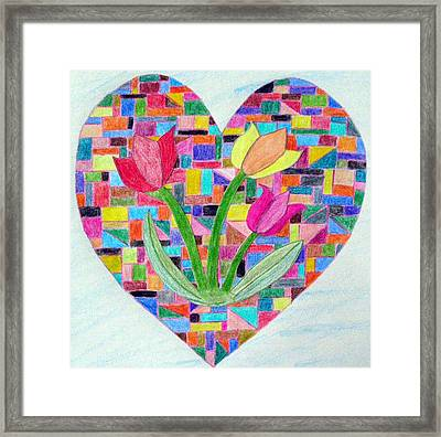 Flowers For My Love Framed Print
