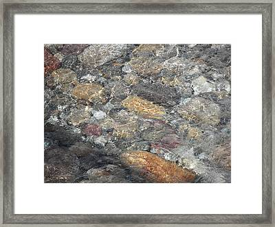 Flowing Stone Framed Print