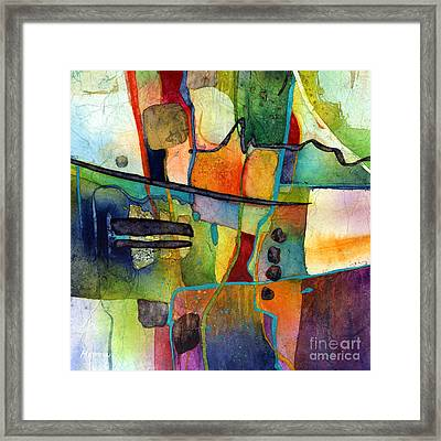 Framed Print featuring the painting Fluvial  Mosaic by Hailey E Herrera
