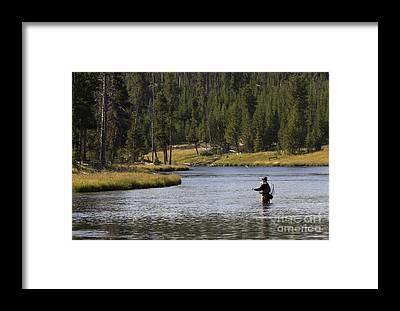 Firehole River Framed Prints