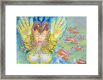 Fly N Fish Framed Print by Eddie Sargent