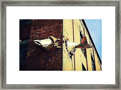 Flying Fish Framed Print by Cathie Tyler