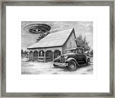 Flying Saucer Framed Print by Murphy Elliott
