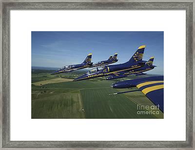 Flying With The Aero L-39 Albatros Framed Print by Daniel Karlsson