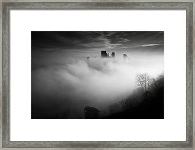 Fog In Pittsburgh  Framed Print by Emmanuel Panagiotakis