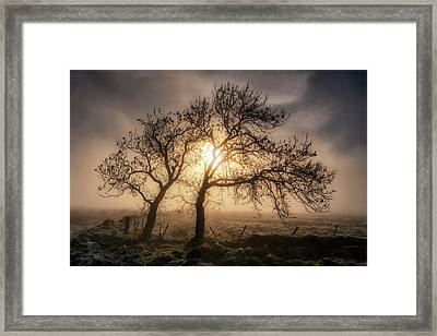 Framed Print featuring the photograph Foggy Morning by Jeremy Lavender Photography