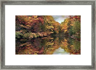 Foliage Reflections Framed Print by Jessica Jenney