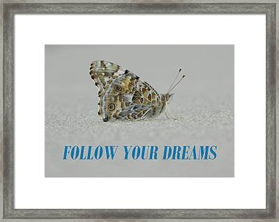 Follow Your Dreams Framed Print by Gallery Of Hope