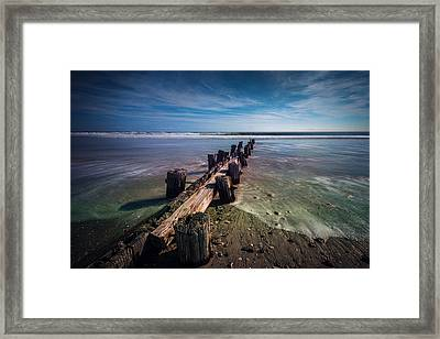 Framed Print featuring the photograph Folly Beach by RC Pics