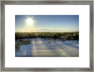 Folly Beach Sunrise Over Morris Island Framed Print by Dustin K Ryan