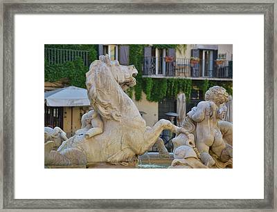 Fontana Dei Calderari Framed Print by JAMART Photography