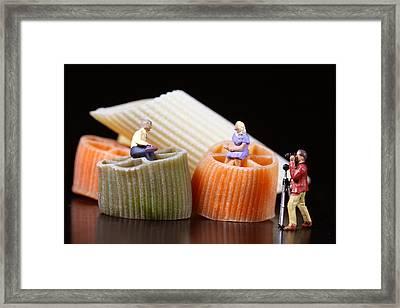 Food Experts At Talk Framed Print by Elke Rampfl-Platte