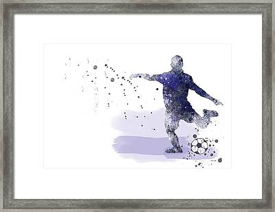 Football Player Framed Print by Marlene Watson