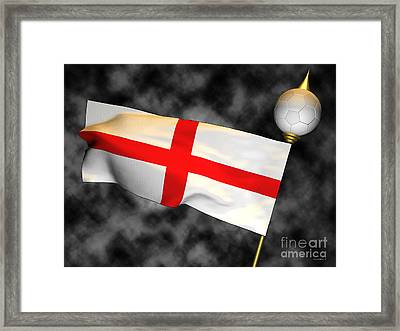 Football World Cup Cheer Series - England Framed Print by Ganesh Barad